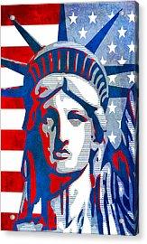 Reversing Liberty 3 Acrylic Print by Angelina Vick