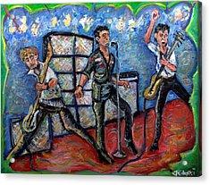 Revolution Rock The Clash Acrylic Print by Jason Gluskin
