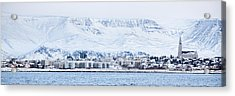 Reykjavik City - Iceland Acrylic Print by Arnar B Gudjonsson