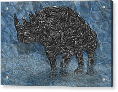 Rhino 5 Acrylic Print by Jack Zulli