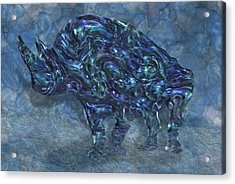 Rhino 6 Acrylic Print by Jack Zulli