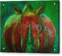 Rhinocerus Acrylic Print by Magdalena Walulik