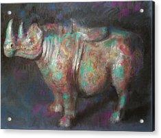 Rhinocerus Acrylic Print by Paez  Antonio
