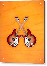 rickenbacker 12-S guitar Acrylic Print by Doron Mafdoos