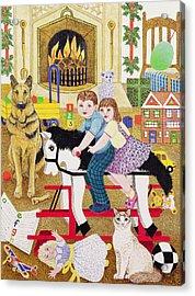 Ride-a-cock-horse Acrylic Print by Pat Scott