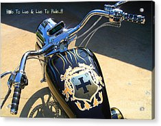 Ride To Live  Acrylic Print by Phillip Allen