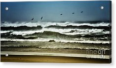 Riders On The Storm II - Outer Banks Acrylic Print by Dan Carmichael