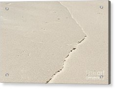 Ridge In The Sand At Big Sur Acrylic Print by Artist and Photographer Laura Wrede