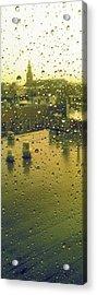 Ridgewood Wet With Rain St Matthias Roman Catholic Church Acrylic Print by Mieczyslaw Rudek Mietko