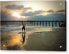 Riding Off Into The Sunset Acrylic Print by Ann Patterson