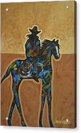 Riding Solo Acrylic Print by Lance Headlee