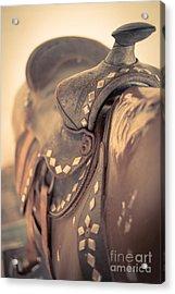 Riding The Saddle Again Acrylic Print by Edward Fielding