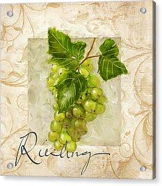 Riesling Acrylic Print by Lourry Legarde