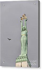 Riga Freedom Monument 03 Acrylic Print by Antony McAulay