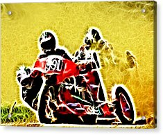 Right Hand Sidecar Outfit Acrylic Print by Sharon Lisa Clarke