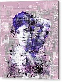 Rihanna 3 Acrylic Print by Bekim Art