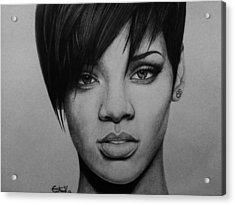 Rihanna Acrylic Print by Carlos Velasquez Art