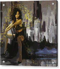 Rihanna Acrylic Print by Corporate Art Task Force