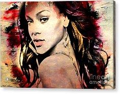 Rihanna Acrylic Print by Mark Ashkenazi