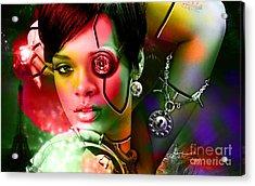 Rihanna Acrylic Print by Marvin Blaine