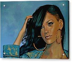 Rihanna Painting Acrylic Print by Paul Meijering