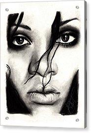 Rihanna Acrylic Print by Rosalinda Markle
