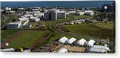 Rikers Island Jail In New York City Acrylic Print by David Oppenheimer