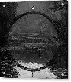 Ring Acrylic Print by ?ukasz Koz?owski