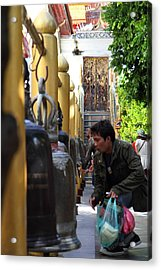 Ringing Of The Bells - Wat Phrathat Doi Suthep - Chiang Mai Thailand - 01131 Acrylic Print by DC Photographer