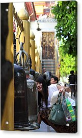 Ringing Of The Bells - Wat Phrathat Doi Suthep - Chiang Mai Thailand - 01132 Acrylic Print by DC Photographer