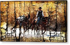 Rio Cowboy With Horses  Acrylic Print by Barbara Chichester