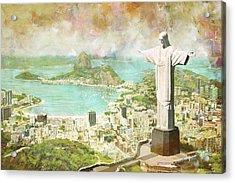 Rio De Janeiro Acrylic Print by Catf