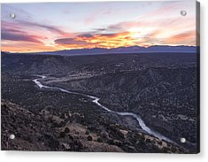 Rio Grande River Sunrise - White Rock New Mexico Acrylic Print by Brian Harig