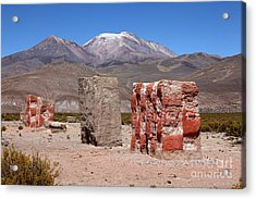 Rio Lauca Chulpas Or Burial Towers Acrylic Print by James Brunker