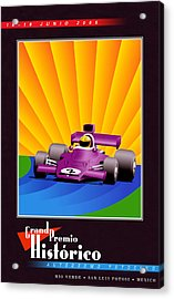 Rio Verde Mexico Historic Grand Prix Acrylic Print by Georgia Fowler