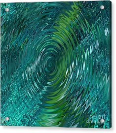 Ripple Sea Glass  Acrylic Print by Christine Fournier