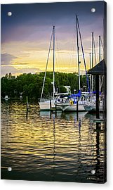 Ripples At Sunset Acrylic Print by Brian Wallace