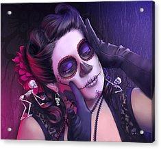 Rita Acrylic Print by Kevin Hill