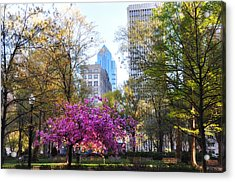 Rittenhouse Square In Springtime Acrylic Print by Bill Cannon