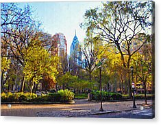 Rittenhouse Square In The Spring Acrylic Print by Bill Cannon