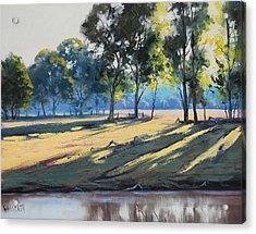 River Bank Shadows Tumut Acrylic Print by Graham Gercken