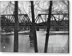 River Bridge Acrylic Print by Jonathan Brown