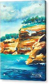 River Cliffs 2 Acrylic Print by Kathy Braud