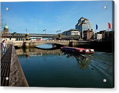 River Cruiser Going Therough The Butt Acrylic Print by Panoramic Images