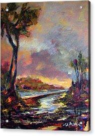 River Dusk Acrylic Print by Julianne Felton
