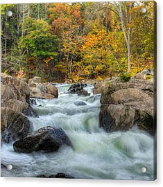 River Rapids Square Acrylic Print by Bill Wakeley
