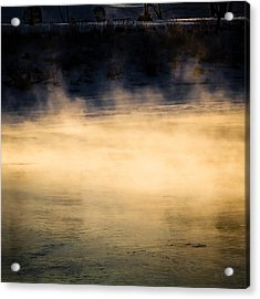River Smoke Acrylic Print by Bob Orsillo