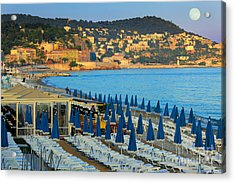 Riviera Full Moon Acrylic Print by Inge Johnsson