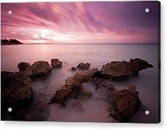 Riviera Maya Sunrise Acrylic Print by Adam Romanowicz