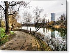 Road And Pond Acrylic Print by Oleksandr Maistrenko